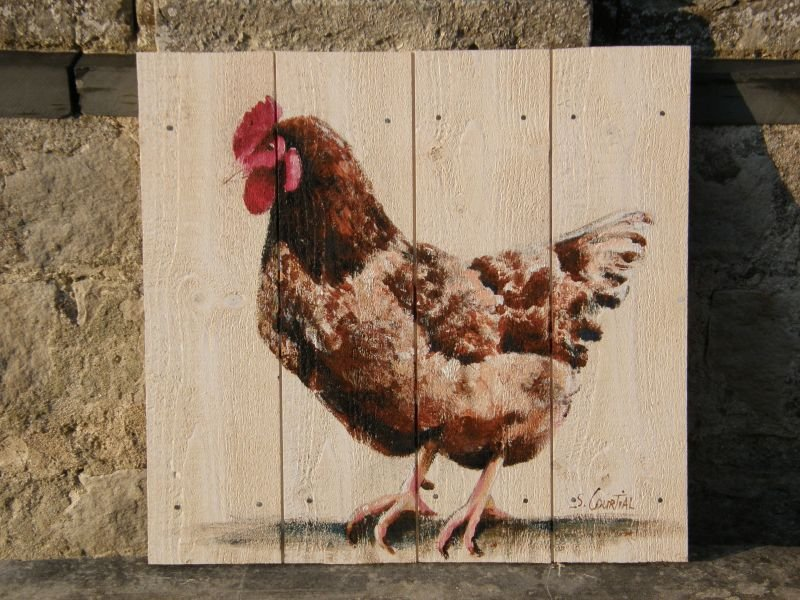 Assez poules and co · Sandrine Courtial : artiste peintre NF49